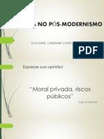 3ª AULA - A ÉTICA NO PÓS-MODERNISMO.pptx