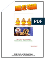 Company Project Report on Mewar Icecream