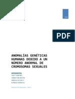 Anomalías Genéticas Humanas Debido a Un Número Anormal de Cromosomas Sexuales (1)