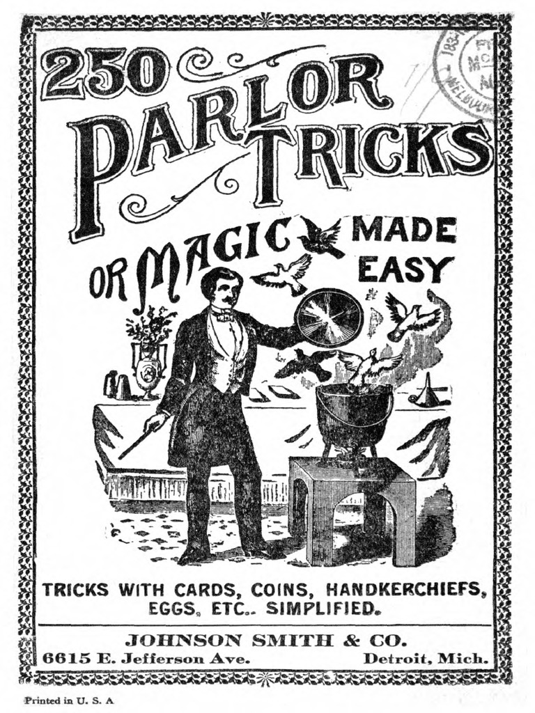 250 parlor tricks or magic made easy unknown playing cards Organ Diagram 250 parlor tricks or magic made easy unknown playing cards magic illusion