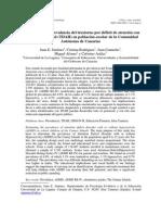 Estimación de la prevalencia del trastorno por déficit de atención con o sin hiperactividad (TDAH) en población escolar de la Comunidad Autónoma de Canarias