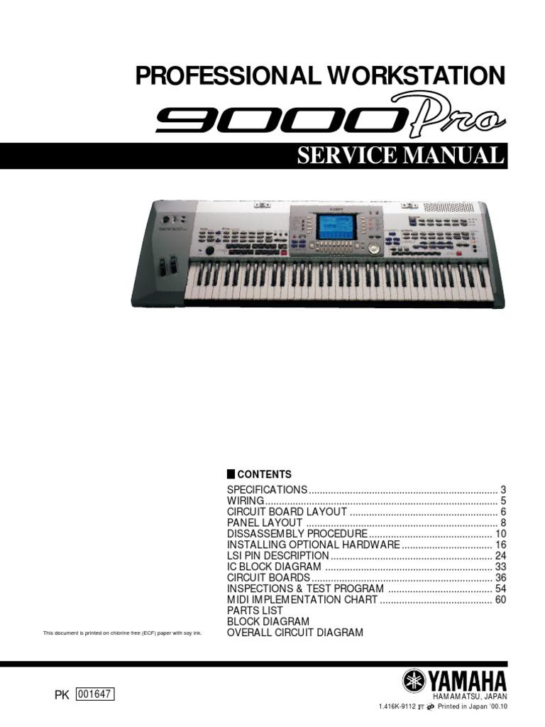 Yamaha 9000 Pro Service Manual Electrical Connector Electronics Electronic Keyboard Circuit Diagram