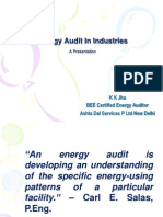 Energy Audit in Industries