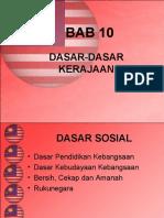 bab 10 - dasar-dasar kerajaan