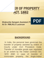 TRANSFER OF PROPERTY ACT,1882     Shakuntla Sangam