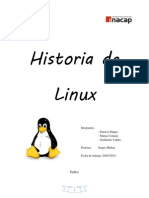 Trabajo Historia de Linux