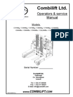 Combilift Ltd. Operators & service Manual.