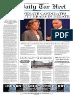 The Daily Tar Heel for September 4, 2014