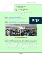 Bridge Launching Girder - Lecture Notes