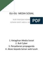 Isu-Isu Media Sosial (Nur Syafiqah Adam)