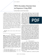 Prediction of RNA Secondary Structure from Random Sequences using ZEM