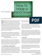 How to Have a Stand Down