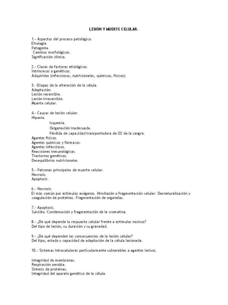 6baaa9074e2 Patología Robbins. Lesión y Muerte Celular