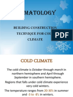 Design for Cold Climate
