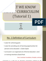 What We Know About Curriculum