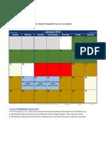 January 2015 Calendar- Exam and Vacation Scheduler