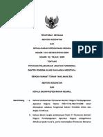 PBM MENKES Dan Kepala BKN No. 1201-No. 20 Ttg Petunjuk Pelaksanaan Jabfung Dokter Pendidik Klinis Th2009.o