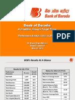 Bank Of Baroda FY 14 Financial Analysis