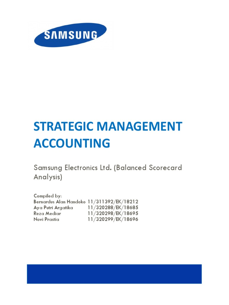 samsung s balanced scorecard Amazoncom: the balanced scorecard: translating strategy into action (9780875846514): robert s kaplan, david p norton: books.