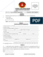Admission Form WANA College