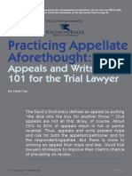 Practicing Appellate Aforethought