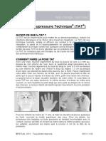 TAT TapasAcupressureTechnique French