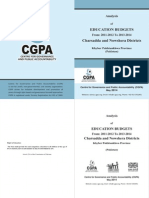 CGPA's Education Budgets Analysis of Nowshera and Charsadda Districts From FY 2011-2012 to FY 2013-2014