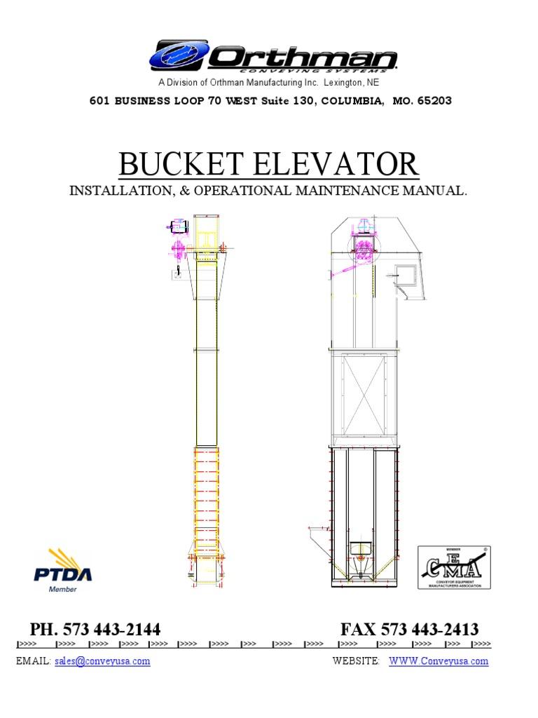 Bucket Elevator Manual | Belt (Mechanical) | Elevator
