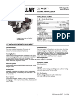 C32 ACERT 1450 Hp at 2300 Rpm Spec Sheet