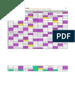Тогтмол ажлын график, 2014-2015