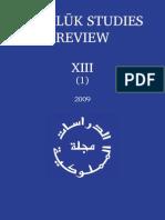 MamlukStudiesReview XIII-1 2009