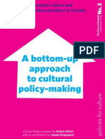 A Bottom up Approach to Cultural Policy making