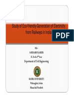 Study of Eco-friendly Generation of Electricity From Railways