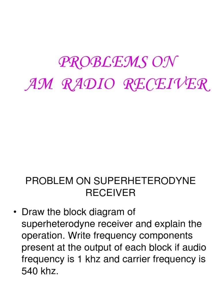 Radio receivers problems receiver radio hertz pooptronica