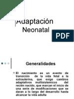 Adaptación  Neonatal
