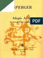 Sperger - Adagio a Dur for DB and String Quartet