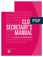 Rotary Club Secretary Manual