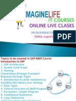 SAP ABAP Online Course Training in Hyderabad | Bangalore | India - Imaginelife
