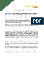 Press Release - Andrés Fernández
