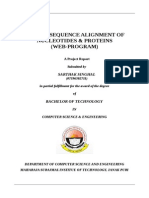 Global Sequence Alignment of Nucleotides & Proteins (Web-program)