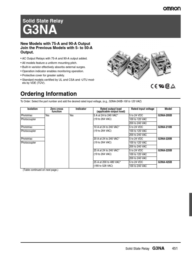 Releu OMROM G3NA   Invoice   Fuse (Electrical) on