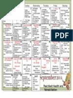 Sept 2014 Activity Calendar