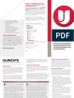 Brochure Ulrichs Publisher Outreach