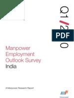 Manpower Employment Outlook Survey Q1 2010