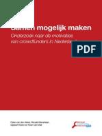 Nationaal Crowdfunding Onderzoek 2013