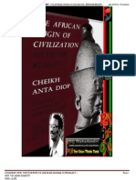 Cheikh Anta Diop the African Origin of