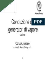 Corso Conduzione Generatori Vapore Lezione 1