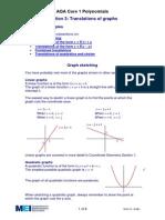 Translation of Graphs