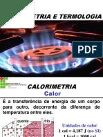 Calorimetria e Termologia