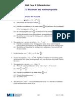 Maximum & Minimum Points